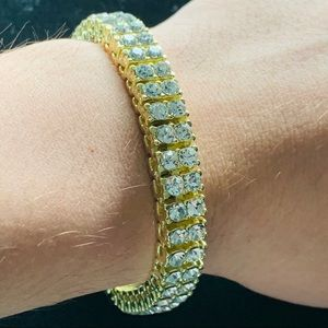 Other - Gold Tennis Bracelet Double Row 10mm